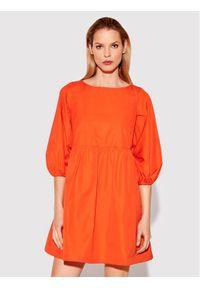 Rage Age Sukienka codzienna Eirene 1 Pomarańczowy Regular Fit. Okazja: na co dzień. Kolor: pomarańczowy. Typ sukienki: proste. Styl: casual