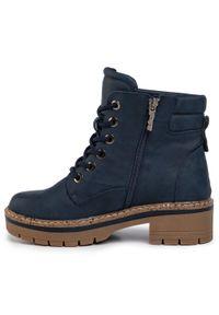Niebieskie buty trekkingowe Refresh z cholewką