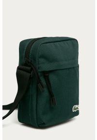 Zielona torba Lacoste gładkie, casualowa