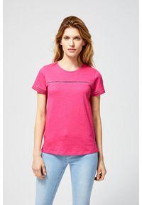 Różowa bluzka MOODO z aplikacjami