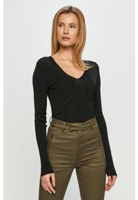 Czarny sweter Miss Sixty klasyczny, gładki
