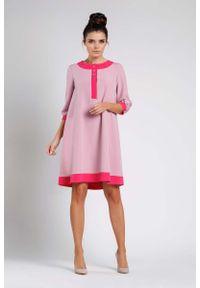 Różowa sukienka wizytowa Nommo wizytowa