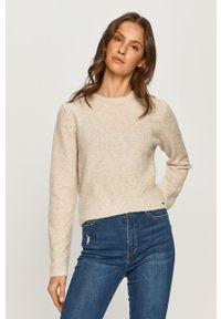 Pepe Jeans - Sweter Wendy. Okazja: na co dzień. Kolor: beżowy. Długość rękawa: długi rękaw. Długość: długie. Styl: casual