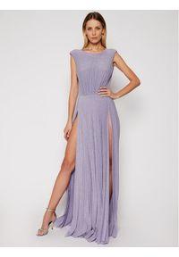 Fioletowa sukienka wieczorowa Elisabetta Franchi