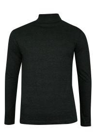 Szary sweter Brave Soul na jesień, z golfem, klasyczny