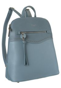 DAVID JONES - Plecak damski błękitny David Jones 6263-2 L.BLUE. Kolor: niebieski. Materiał: skóra ekologiczna