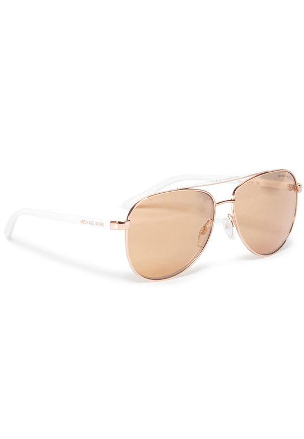 Złote okulary przeciwsłoneczne Michael Kors