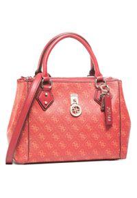 Czerwona torebka klasyczna Guess na ramię