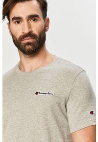 Szary t-shirt Champion casualowy, na co dzień