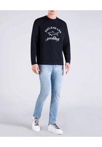 PAUL & SHARK - Granatowa bluza z odblaskowym logo. Kolor: niebieski. Materiał: bawełna, materiał. Długość rękawa: długi rękaw. Długość: długie. Styl: sportowy