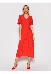 Czerwona sukienka letnia Silvian Heach casualowa, prosta