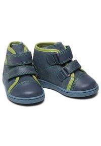 RenBut - Trzewiki RENBUT - 13-1423 Jeans Zielony. Kolor: niebieski. Materiał: skóra, zamsz. Sezon: zima, jesień #2