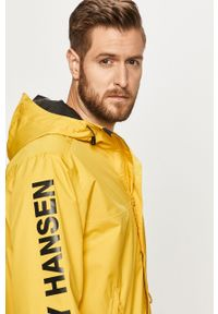Żółta kurtka Helly Hansen casualowa, na co dzień, z nadrukiem