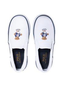 Białe półbuty Polo Ralph Lauren