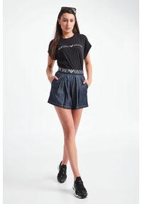 Emporio Armani Swimwear - T-SHIRT EMPORIO ARMANI SWIMWEAR. Materiał: bawełna, materiał. Długość rękawa: krótki rękaw. Długość: krótkie. Wzór: nadruk