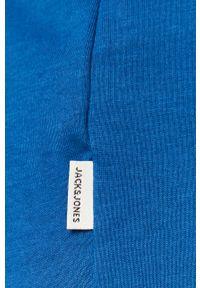 Jack & Jones - T-shirt. Okazja: na co dzień. Kolor: niebieski. Materiał: dzianina, bawełna. Wzór: gładki. Styl: casual #3