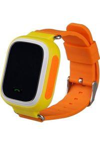 Żółty zegarek GSM City smartwatch