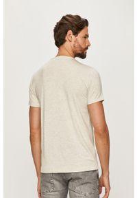 Beżowy t-shirt Polo Ralph Lauren na co dzień, casualowy, polo