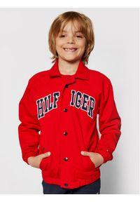 TOMMY HILFIGER - Tommy Hilfiger Kurtka przejściowa KB0KB06454 M Czerwony Regular Fit. Kolor: czerwony