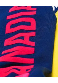 DSQUARED2 KIDS - Bawełniana sukienka z kapturem 4-16 lat. Typ kołnierza: kaptur. Kolor: czerwony. Materiał: bawełna. Długość rękawa: długi rękaw. Wzór: nadruk, kolorowy. Sezon: lato #4