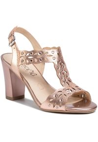 Różowe sandały Caprice na co dzień, casualowe