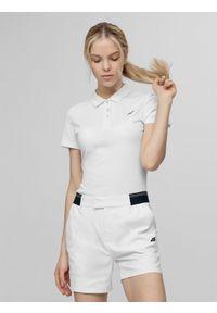 Biała koszulka polo 4f polo, klasyczna