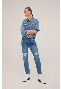 Niebieskie jeansy mango