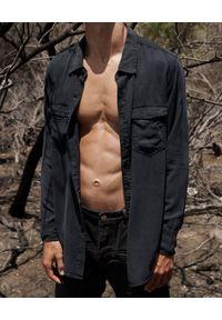 ONETEASPOON - Koszula Fox Black. Typ kołnierza: kołnierzyk klasyczny. Kolor: czarny. Materiał: tkanina, materiał. Długość rękawa: długi rękaw. Długość: długie. Styl: klasyczny