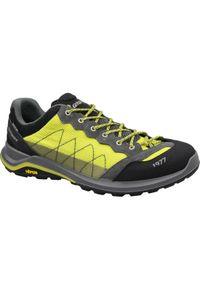 Żółte buty trekkingowe Grisport z cholewką, w kolorowe wzory