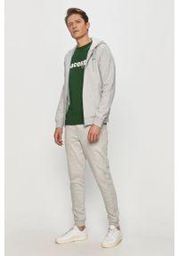 Zielony t-shirt Lacoste z aplikacjami