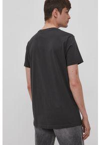 Szary t-shirt Lee Cooper casualowy, na co dzień, z nadrukiem