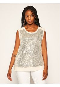 Beżowa bluzka Persona by Marina Rinaldi