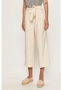 Kremowe spodnie materiałowe Vero Moda