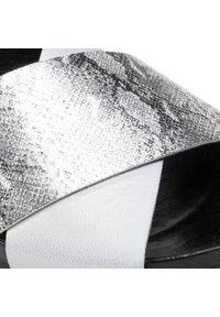 Nessi - Klapki NESSI - 20745 Srebro. Okazja: na co dzień. Kolor: srebrny. Materiał: skóra. Sezon: lato. Styl: casual #3