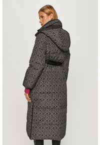 Czarna kurtka Karl Lagerfeld z kapturem, na co dzień