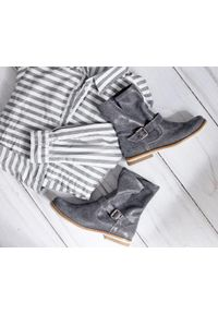 Szare botki Zapato na co dzień, bez zapięcia