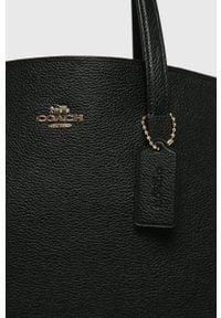 Czarna shopperka Coach na ramię