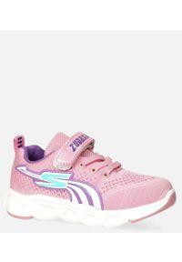Casu - różowe buty sportowe na rzep casu 204/11m. Zapięcie: rzepy. Kolor: różowy