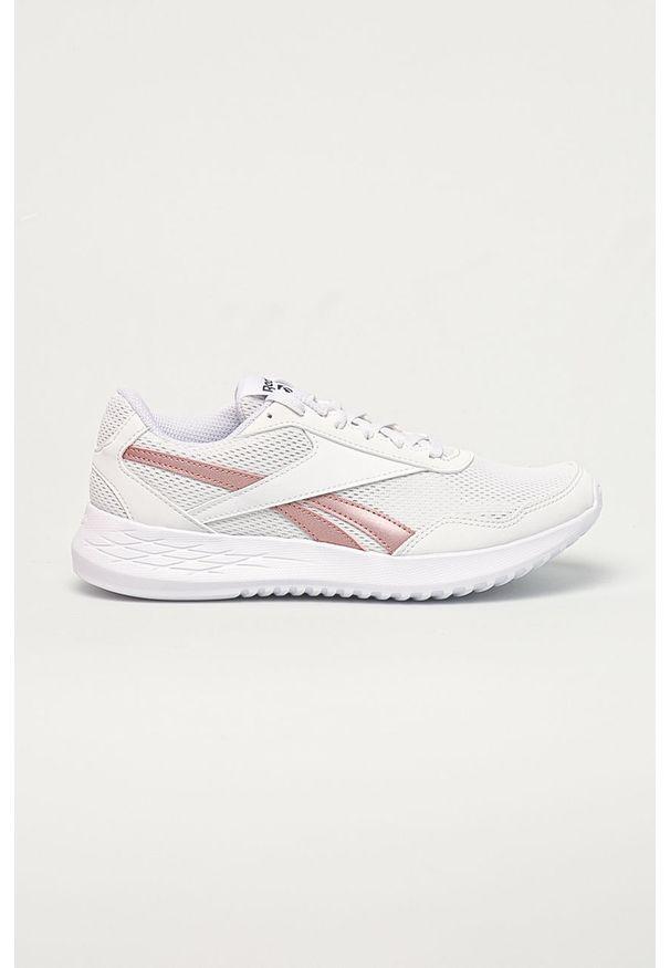 Reebok - Buty ENERGEN LITE. Nosek buta: okrągły. Zapięcie: sznurówki. Kolor: biały. Materiał: skóra ekologiczna, syntetyk, materiał, guma. Szerokość cholewki: normalna. Obcas: na obcasie. Wysokość obcasa: niski