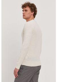 BOSS - Boss - Sweter Boss Casual. Okazja: na co dzień. Kolor: beżowy. Długość rękawa: długi rękaw. Długość: długie. Styl: casual