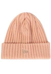 New Era - Czapka NEW ERA - Nyc Knit Ne Bsk 12040267 Różowy. Kolor: różowy. Materiał: materiał, akryl