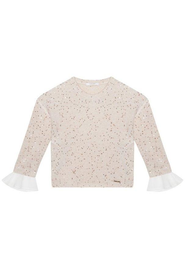 Liu Jo Kids Sweter KF0084 MA96I Beżowy Regular Fit. Kolor: beżowy