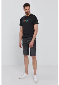 Pepe Jeans - Szorty jeansowe Stanley. Okazja: na co dzień. Kolor: szary. Materiał: tkanina. Wzór: gładki. Styl: casual