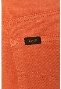 Pomarańczowe jeansy Lee z podwyższonym stanem