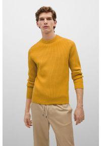 Mango Man - Sweter TEXAS. Okazja: na co dzień. Kolor: żółty. Materiał: materiał. Długość rękawa: długi rękaw. Długość: długie. Styl: casual