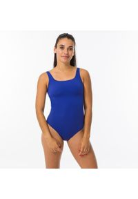 NABAIJI - Strój Jednoczęściowy Pływacki Damski Nabaiji Heva. Kolor: niebieski. Materiał: poliester, poliamid, materiał, elastan