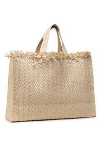 Beżowa torba plażowa Keddo na ramię