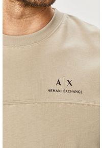 Zielona bluza nierozpinana Armani Exchange na co dzień, bez kaptura