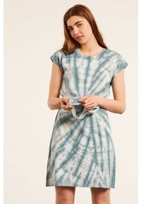 Etam - Koszula nocna Basil. Kolor: niebieski. Materiał: materiał. Długość: krótkie