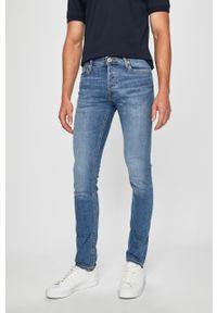 Niebieskie jeansy Jack & Jones z aplikacjami